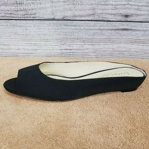 NEW Bettye Muller Tangier Peep Toe Demi-Wedge Shoe